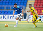 St Johnstone v Falkirk…24.07.18…  McDiarmid Park    Betfred Cup<br />Tony Watt gets away from Scott Harrison<br />Picture by Graeme Hart. <br />Copyright Perthshire Picture Agency<br />Tel: 01738 623350  Mobile: 07990 594431