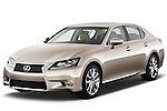 Front three quarter view of a 2013 Lexus GS 350.
