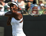 June 25, 2009.Venus Williams of the USA, in action, defeating Kateryna Bondarenko of the Ukraine, 6-3, 6-2 in the second round, of the All England Lawn Tennis Club, Wimbledon, England