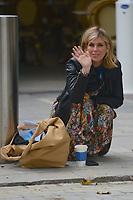 LONDON, ENGLAND - OCTOBER 15: Kate Garraway departing Smooth Radio Studios on October 15, 2020 in London, England.<br /> CAP/IH<br /> ©Ivan Harris/Capital Pictures