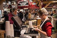 Amish bakery shop at the Reading Terminal Market, shop, USA