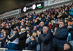 04.03.2020: Rangers v Hamilton: Rangers fans applause on 8th minute to back Steven Gerrard