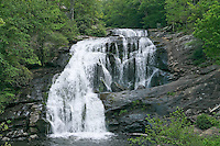 Bald River Falls, a scenic water fall in western North Carolina Blueridge mountains