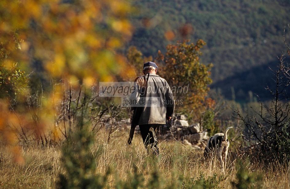 Europe/France/Midi-Pyrénées/46/Lot/Cahors: Chasse sur la causse