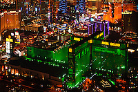 aerial photograph night time MGM Grand, Las Vegas, Clark County, Nevada