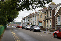 Pictured: Coleshill Terrace in Llanelli, Wales, UK. Monday 01 July 2019<br /> Re: Dyfed-Powys Police has today charged a 42-year-old man following the death of Andre Yan Irwin in Llanelli.<br /> Justin Ravenhill, from Aberavon, has been charged with murder and has been remanded in custody to appear at Llanelli Magistrates' Court.<br /> Mr Ravenhill was arrested on Saturday, June 29 after Mr Irwin was found injured in Coleshill Terrace during the early hours of the morning.<br /> Sadly, the 47-year-old father and grandfather died a short time later in hospital.<br /> Mr Irwin's next of kin continue to be supported by specially trained officers.