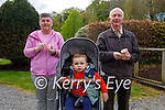 John and Phyllis McCarthy with their grandson Adam O'Sullivan enjoying their ice cream in the Demesne in Killarney on Sunday.