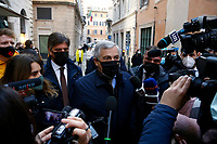 The Vice President of the EPP, European People's Party Antonio Tajani arrives at the summit of the center-right Italian parties to discuss of the Government crisis.<br /> Rome(Italy), January 14th 2021<br /> Photo Samantha Zucchi/Insidefoto