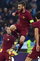 Daniele De Rossi Roma<br /> Roma 4-12-2016  Stadio Olimpico<br /> Campionato Serie A, Derby<br /> Lazio -  AS roma<br /> Foto Antonietta Baldassarre / Insidefoto