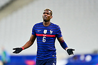 24th March 2021; Stade De France, Saint-Denis, Paris, France. FIFA World Cup 2022 qualification football; France versus Ukraine;   Paul Pogba (France) complains of the decision