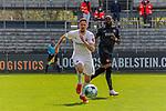 Janik Bachmann (SV Sandhausen, Nr. 5) kann den Ball klären beim Spiel in der 2. Bundesliga, SV Sandhausen - Wuerzburger Kickers.<br /> <br /> Foto © PIX-Sportfotos *** Foto ist honorarpflichtig! *** Auf Anfrage in hoeherer Qualitaet/Aufloesung. Belegexemplar erbeten. Veroeffentlichung ausschliesslich fuer journalistisch-publizistische Zwecke. For editorial use only. For editorial use only. DFL regulations prohibit any use of photographs as image sequences and/or quasi-video.