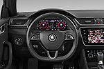 Car pictures of steering wheel view of a 2020 Skoda Superb-Combi Sportline 5 Door Wagon Steering Wheel