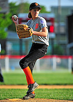 14 June 2011: The South End Little League Burlington American Athletics in action against the North End Giants in the consolation playoff game of the City of Burlington Championships at Roosevelt Park in Burlington, Vermont. The Athletics defeated the Giants 14-4 to take third place in the city for the 2011 season. Mandatory Credit: Ed Wolfstein Photo