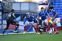 Andy Cannon and Marcus Harness of Portsmouth look for a way through the Doncaster Rovers defence during Portsmouth vs Doncaster Rovers, Sky Bet EFL League 1 Football at Fratton Park on 17th October 2020