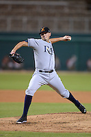 Salt River Rafters pitcher Grayson Garvin (34), of the Tampa Bay Rays organization, during an Arizona Fall League game against the Glendale Desert Dogs on October 16, 2013 at Camelback Ranch in Phoenix, Arizona.  Glendale defeated Salt River 8-6.  (Mike Janes/Four Seam Images)