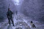 Pheasant Shooting Lancashire, UK.  Gun shooter. The English Season published by Pavilon Books 1987