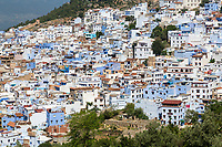 """Chefchaouen, Morocco.  View of the Town from the Trail Leading to the """"Spanish Mosque."""""""
