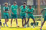 22.09.2020, Trainingsgelaende am wohninvest WESERSTADION - Platz 12, Bremen, GER, 1.FBL, Werder Bremen Training<br /> <br /> <br /> Felix Agu (Werder Bremen / Neuzugang 17)<br /> Tahith Chong (Werder Bremen #22)<br /> Querformat<br /> <br /> <br /> Foto © nordphoto / Kokenge