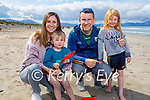 Enjoying Banna beach on Sunday, l to r: Gillian, Rory, Shannon and Anthony Daly.