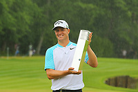 Alex Noren with the BMW Championship trophy during the BMW PGA Golf Championship at Wentworth Golf Course, Wentworth Drive, Virginia Water, England on 28 May 2017. Photo by Steve McCarthy/PRiME Media Images.