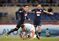 Calcio, Serie A: Roma, stadio Olimpico, 20 settembre 2017.<br /> Napoli's José Maria Callejon (l) celebrates after scoring during the Italian Serie A football match between Lazio and Napoli at Rome's Olympic stadium, September 20, 2017.<br /> UPDATE IMAGES PRESS/Isabella Bonotto
