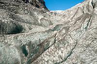 Ice crevasses on Franz Josef Glacier, Westland National Park, West Coast, World Heritage, South Island, New Zealand