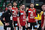 Fuechse Berlin nach der Niederlage  beim Spiel in der Handball Bundesliga, Frisch Auf Goeppingen - Fuechse Berlin.<br /> <br /> Foto © PIX-Sportfotos *** Foto ist honorarpflichtig! *** Auf Anfrage in hoeherer Qualitaet/Aufloesung. Belegexemplar erbeten. Veroeffentlichung ausschliesslich fuer journalistisch-publizistische Zwecke. For editorial use only.