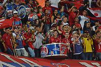 MEDELLIN - COLOMBIA, 01-05-2019: Hinchas del Medellín animan a su equipo durante partido por la fecha 19 de la Liga Águila I 2019 entre Deportivo Independiente Medellín y Atletico Huila jugado en el estadio Atanasio Girardot de la ciudad de Medellín. / Fans of Medellin cheer for their team during match for the date 19 of the Aguila League I 2019 between Deportivo Independiente Medellin and Atletico Huila at Atanasio Girardot stadium in Medellin city. Photo: VizzorImage / Leon Monsalve / Cont