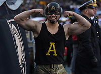 PHILADELPHIA, PA - DEC 14, 2019: Army Black Knights Captain America on the sideline during game between Army and Navy at Lincoln Financial Field in Philadelphia, PA. The Midshipmen defeated Army 31-7. (Photo by Phil Peters/Media Images International)