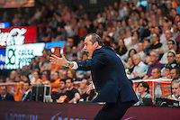 VALENCIA, SPAIN - APRIL 24: Txus Vidorreta during ENDESA LEAGUE match between Valencia Basket Club and Iberostar Gran Canaria at Fonteta Stadium on April, 2016 in Valencia, Spain