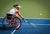 Amstelveen, Netherlands, 19 Augustus, 2020, National Tennis Center, NTC, NKR, National Wheelchair Tennis Championships, Woman's single: Marjolein Buis (NED)<br /> Photo: Henk Koster/tennisimages.com
