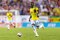 Tampa, FL - Thursday, October 11, 2018: Deiver Machado during a USMNT match against Colombia.  Colombia defeated the USMNT 4-2.