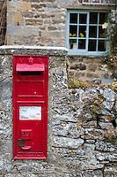 UK, England, Yorkshire.  Mail Box, Bolton castle.