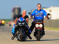 Jul, 9, 2011; Joliet, IL, USA: NHRA pro stock motorcycle rider Mike Berry during qualifying for the Route 66 Nationals at Route 66 Raceway. Mandatory Credit: Mark J. Rebilas-