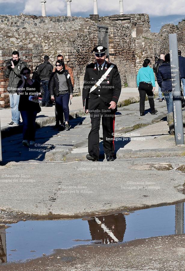 - NAPOLI 3 MAR  2014 -    Scavi di Pompei.