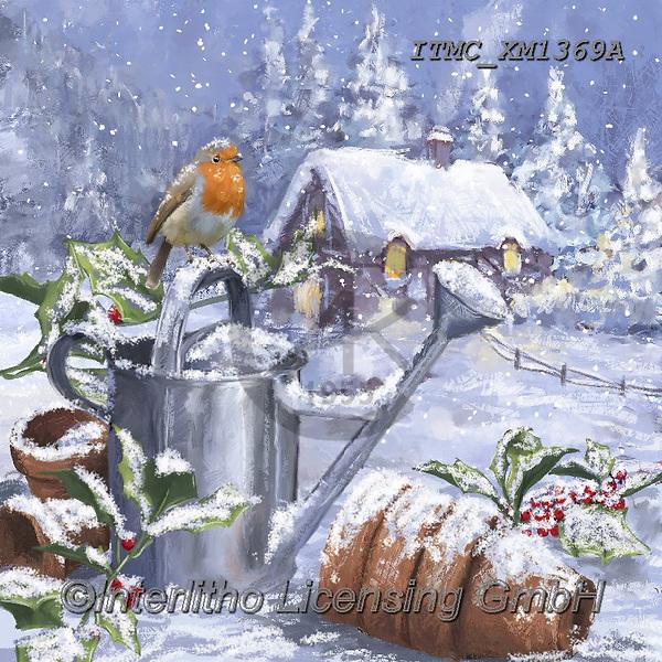 Marcello, CHRISTMAS SYMBOLS, WEIHNACHTEN SYMBOLE, NAVIDAD SÍMBOLOS, paintings+++++,ITMCXM1369A,#xx# #L#,landscape,red robbin
