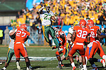 North Dakota State Bison running back John Crockett (23) in action during the FCS Championship game between the North Dakota State Bison and the Sam Houston State Bearkats at the FC Dallas Stadium in Frisco, Texas. North Dakota defeats Sam Houston 39 to 13..