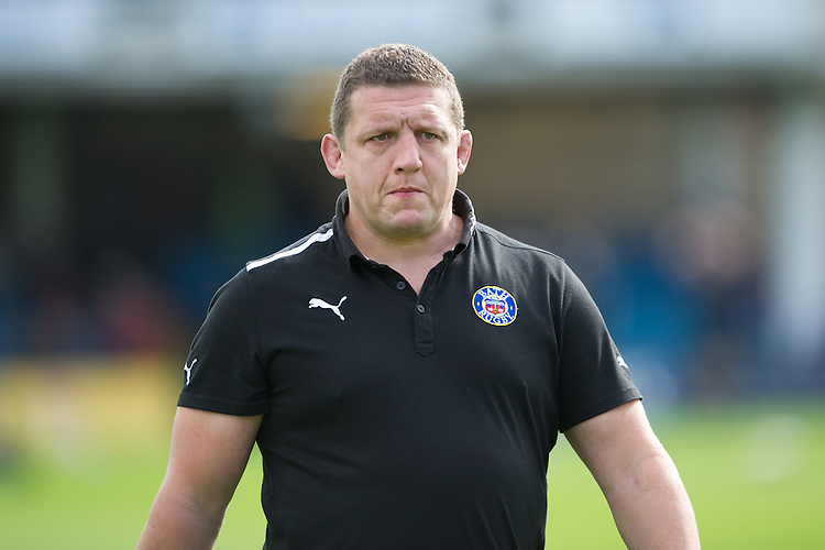 Toby Booth, Bath Rugby 1st Team Coach, during the Aviva Premiership match between Bath Rugby and Sale Sharks at the Recreation Ground on Saturday 29th September 2012 (Photo by Rob Munro)