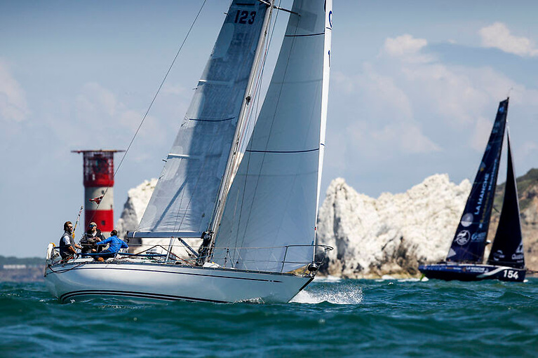 Jonathan Rolls' elegant Swan 38 classic Xara has good form in the Rolex Fastnet Race and recently won the Guingand Bowl Photo: Paul Wyeth