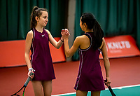 Wateringen, The Netherlands, December 15,  2019, De Rhijenhof , NOJK juniors doubles 12/14/16  years, Naomi Jin (NED) and Suus Zielhuis (NED) (L)<br /> Photo: www.tennisimages.com/Henk Koster