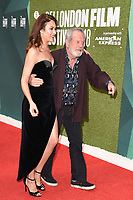 """Olga Kurylenko and Terry Gilliam<br /> arriving for the London Film Festival screening of """"The Man Who Killed Don Quixote"""" at the Embankment Gardens<br /> <br /> ©Ash Knotek  D3445  16/10/2018"""