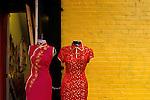 China town entrance to dress making shop San Francisco California State USA