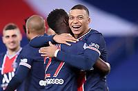 24th December 2020; Paris, France; French League 1 football, Paris St Germain versus Strasbourg;   Goal celebrations from KYLIAN MBAPPE PSG