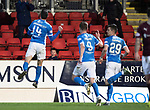 St Johnstone v Hearts…05.04.17     SPFL    McDiarmid Park<br />Joe Shaughnessy celebrates his goal<br />Picture by Graeme Hart.<br />Copyright Perthshire Picture Agency<br />Tel: 01738 623350  Mobile: 07990 594431