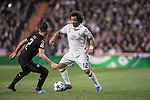 Marcelo Vieira Da Silva of Real Madrid fights for the ball with Elseid Hysaj of SSC Napoli during the match Real Madrid vs Napoli, part of the 2016-17 UEFA Champions League Round of 16 at the Santiago Bernabeu Stadium on 15 February 2017 in Madrid, Spain. Photo by Diego Gonzalez Souto / Power Sport Images