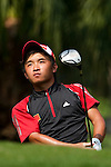 SHENZHEN, CHINA - NOVEMBER 01:  Han Ren of China tees off on the 7th hole during the final round of the Asian Amateur Championship at the Mission Hills Golf Club on November 1, 2009 in Shenzhen, Guangdong, China.  (Photo by Victor Fraile/The Power of Sport Images) *** Local Caption *** Han Ren