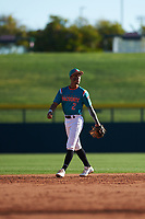 Alexander Aguila (2) of Mater Academy in Hialeah, Florida during the Baseball Factory All-America Pre-Season Tournament, powered by Under Armour, on January 13, 2018 at Sloan Park Complex in Mesa, Arizona.  (Zachary Lucy/Four Seam Images)