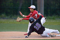 May 10, 2010: Newport High School shortstop Trace Tam Sing covers second base during a playoff game against Lake Washington High School at Inglemoor High School in Kenmore, Washington.