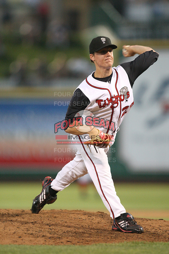 Lansing Lugnuts Aaron Loup during the Midwest League All Star Game at Parkview Field in Fort Wayne, IN. June 22, 2010. Photo By Chris Proctor/Four Seam Images