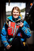 Portrait of Ingela Holgersson, owner of a kayaking centre - SKÄRGÅRDSIDYLLEN, Grönemad, Grebbestad, West Sweden.